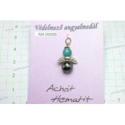 Achát, Hematit AM00005