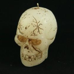 Hallowen koponya gyertya