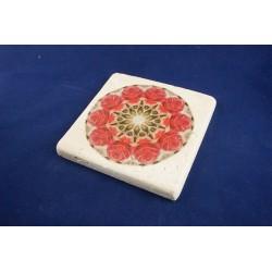Rózsa mandala kőtábla