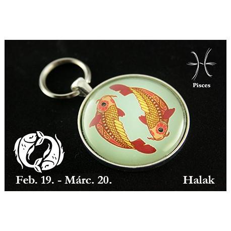 03 Horoszkópos kulcstartó Halak
