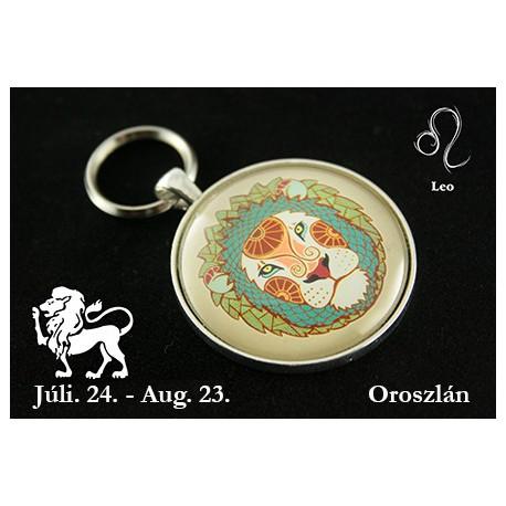 08 Horoszkópos kulcstartó Oroszlán