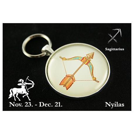 12 Horoszkópos kulcstartó Nyilas